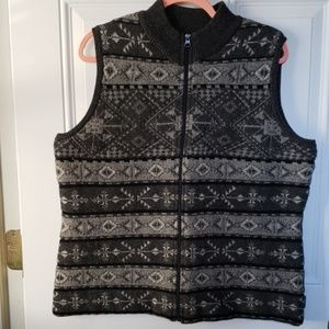 WOOLRICH LAMBSWOOL SOUTHWEST DESIGN ZIP UP VEST XL